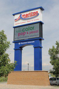 Electronic Message Center American Furniture Warehouse Thornton Co Davinci Sign Systems