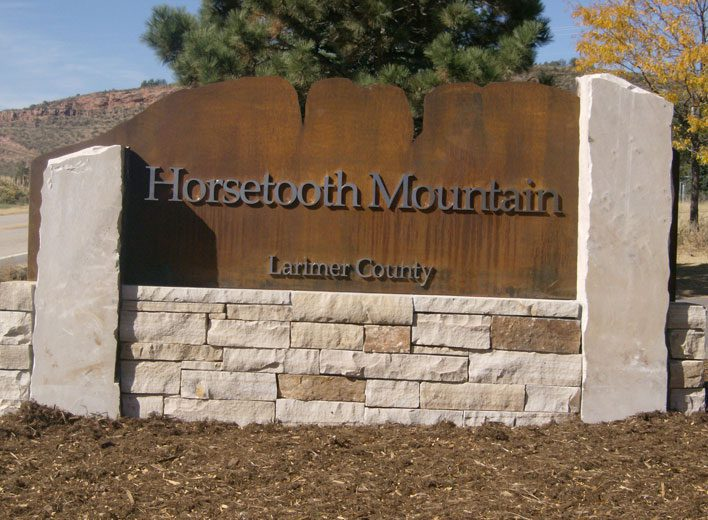 Horsetooth Mountain Monument Sign