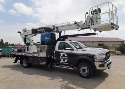 Partial Wrap on DaVinci Sign Systems, Inc. Bucket Truck