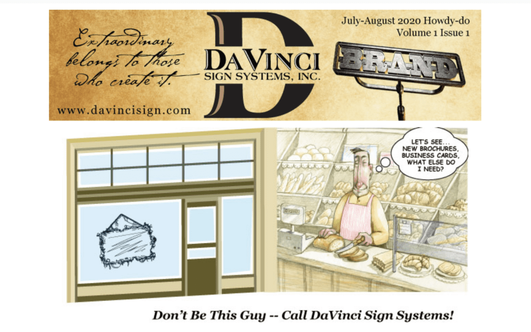 New from The DaVinci Sign Systems 'BRAND'