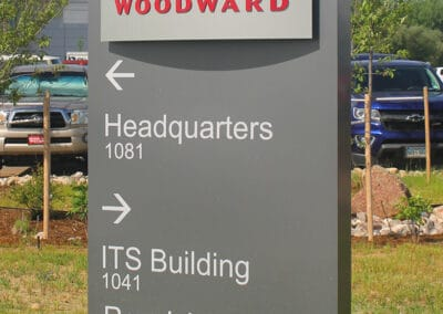 Woodward Directional Sign