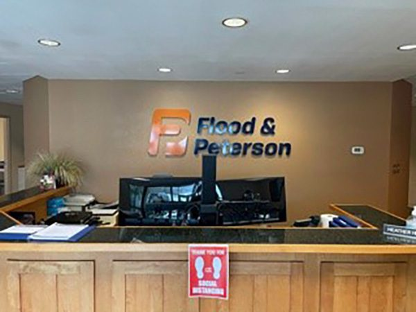 Flood and Peterson interior graphics